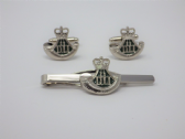 DURHAM LIGHT INFANTRY ( DLI ) CUFF LINK AND TIE GRIP / CLIP SET